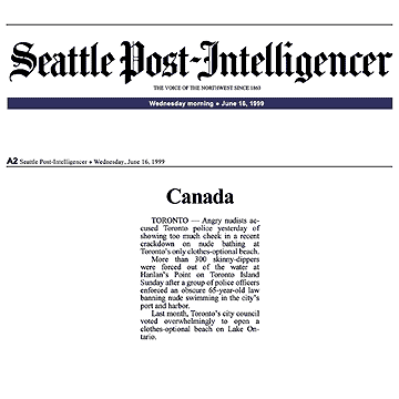 Seattle [Wash.] Post-Intelligencer 1999-06-16 Police harass swim