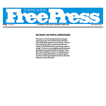 Chicago Free Press 2002-09-25 - Simm convinces prosecutors to drop nudity charges