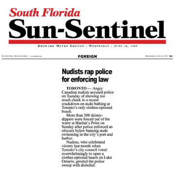 South Florida Sun-Sentinel 1999-06-16 - Police harass swim