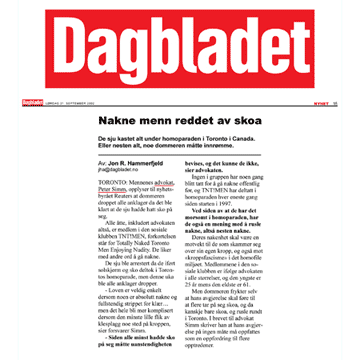 Dagbladet [Norway] 2002-09-21 - Simm convinces prosecutors to drop charges