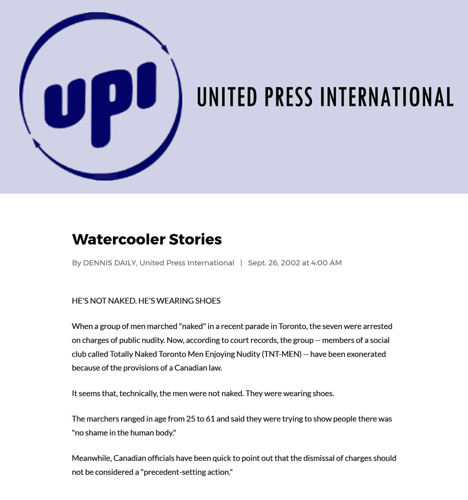 United Press International (UPI) 2002-09-26 - Charges gone