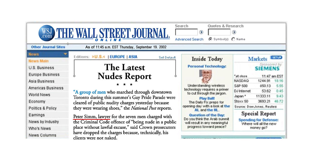 US Wall Street Journal 2002-09-19 - Charges goneWall Street Journal 2002-09-19 - Simm convinces prosecutors to drop charges [article published online only]