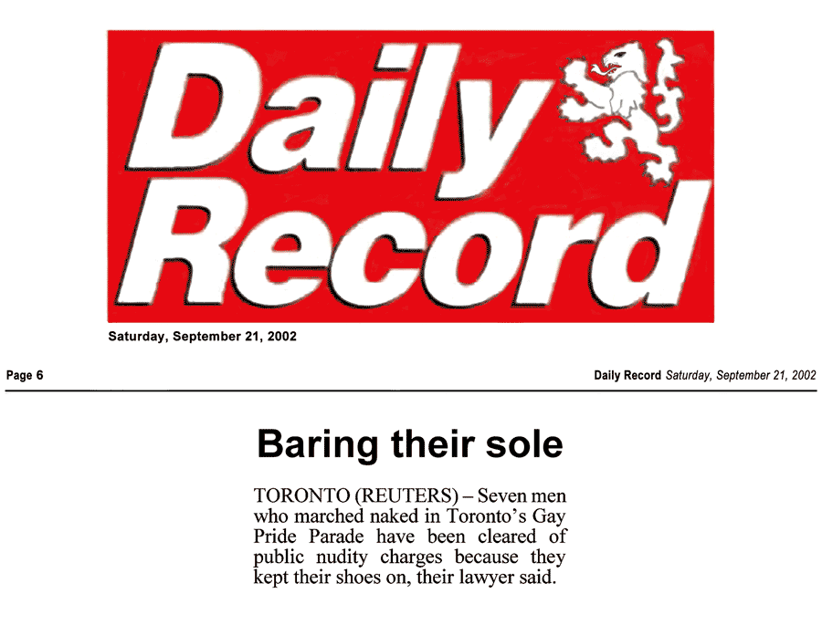 Daily Record [Glasgow, Scotland, UK] 2002-09-21 - Charges gone